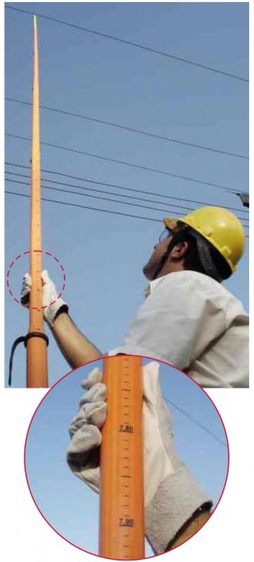 Vara de manobra para eletricista