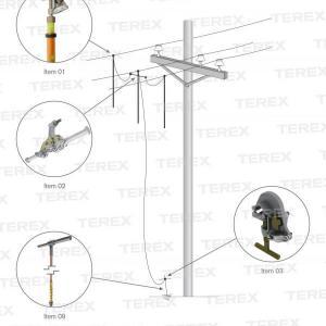Conjunto De Aterramento Temporário Com Vara De Manobra Telescópica Para Redes De Distribuição (mt) - Atr04631-1