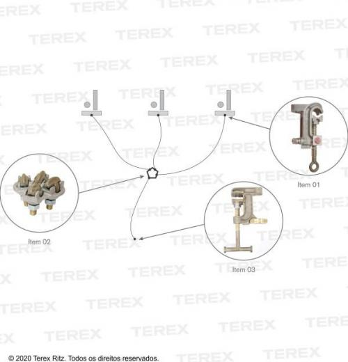 Conjunto De Aterramento Temporário Para Cubículo E Subestações (mt) - Atr12407-1 2