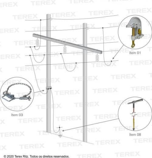 Conjunto De Aterramento Temporário Para Linhas De Transmissão (at) (estrutura Madeira, Concreto E Metálica) - Atr17441-1