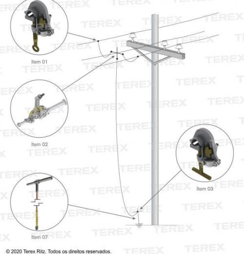 Conjunto De Aterramento Temporário Para Redes De Distribuição (mt) - Atr09734-1