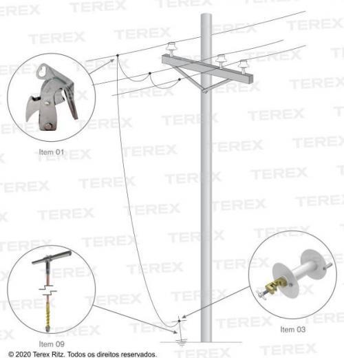 Conjunto De Aterramento Temporário Para Redes De Distribuição (mt) - Atr30260-1